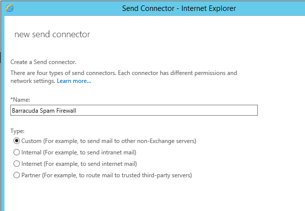 How can I configure Microsoft Exchange 2013 to use my